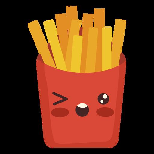 Flat kawaii fries