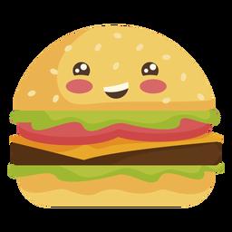 Flacher Kawaii Hamburger