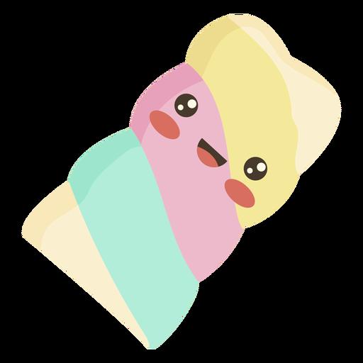 Flache kawaii Marshmallow Süßigkeiten