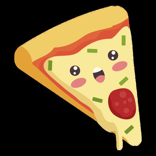 Flat kawaii pizza