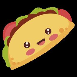 Flat kawaii taco