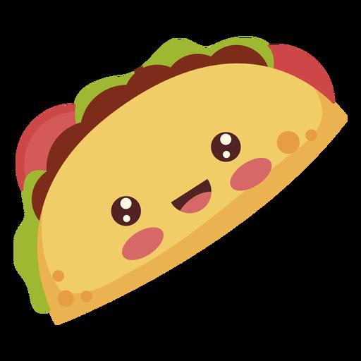 Flat kawaii taco Transparent PNG