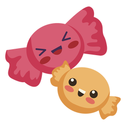Flat kawaii dos dulces