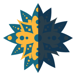Flat mandala blue yellow