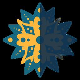 Mandala plana azul amarelo