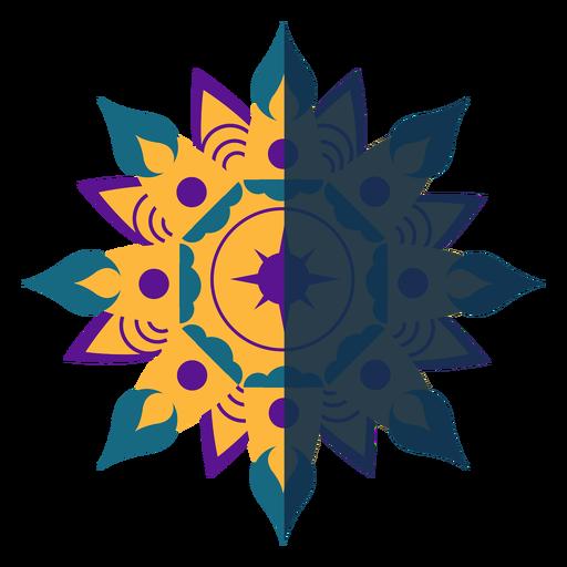 Mandala plana azul violeta