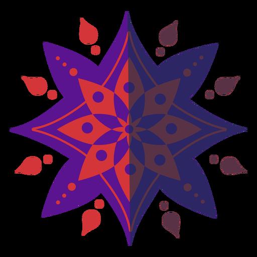Color mandala plana