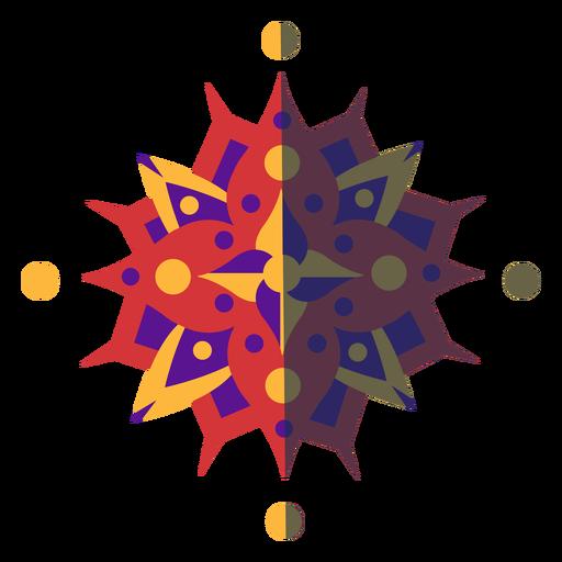 Mandala plana color violeta