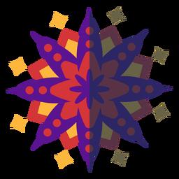 Violeta mandala plana