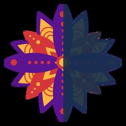 Flaches Mandala violett rot