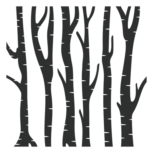 Forest black trees