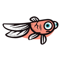 Funny red fish