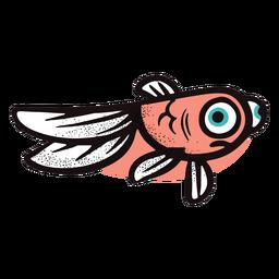 Peixe vermelho engraçado