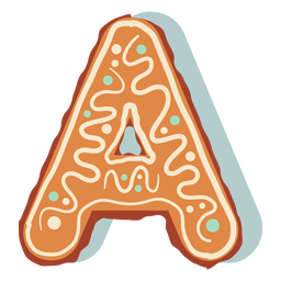 Gingerbread cookie letter a