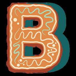 Letra b de galleta de jengibre
