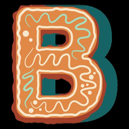 Biscoito de gengibre letra b Transparent PNG