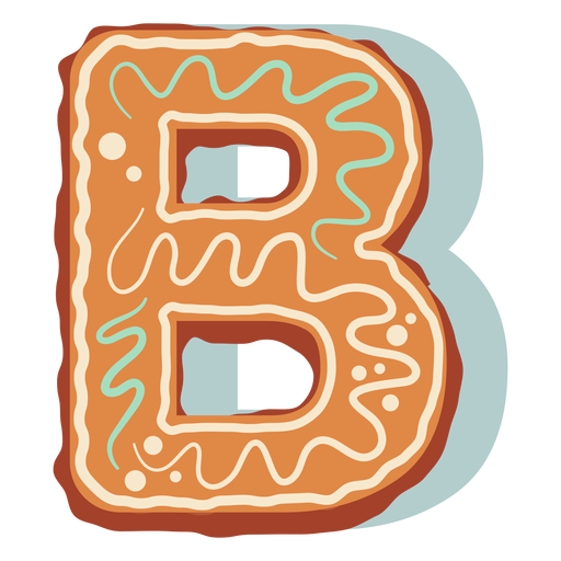 Gingerbread cookie letter b