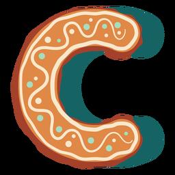 Letra de galleta de jengibre c