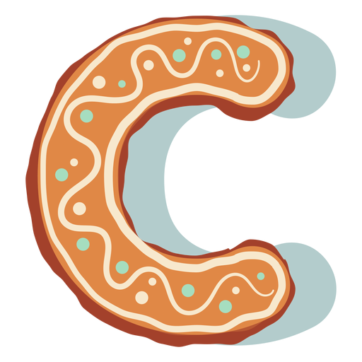 Gingerbread cookie letter c