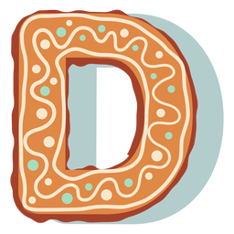 Gingerbread cookie letter d