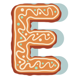 Gingerbread cookie letter e
