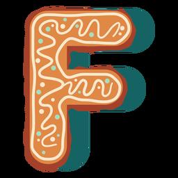 Galleta de jengibre letra f