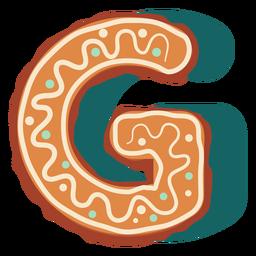 Galleta de jengibre letra g