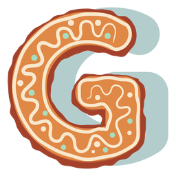 Gingerbread cookie letter g