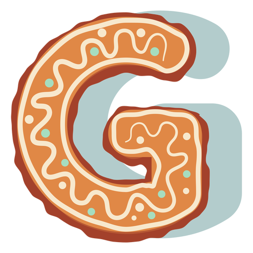 Gingerbread cookie letter g Transparent PNG
