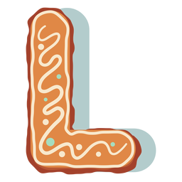 Gingerbread cookie letter l