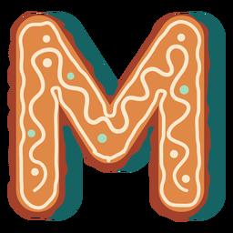 Galleta de jengibre letra m