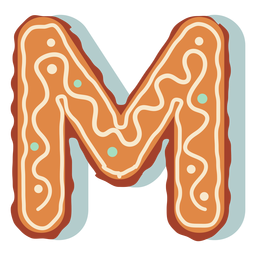Gingerbread cookie letter m