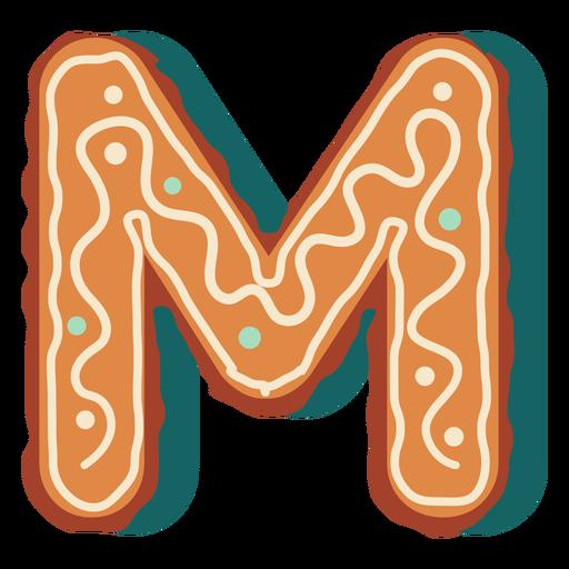 Gingerbread cookie letter m Transparent PNG