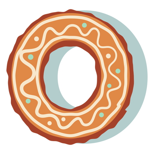 Gingerbread cookie letter o