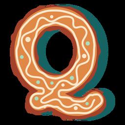 Carta de biscoito de gengibre q