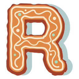 Gingerbread cookie letter r