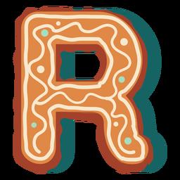 Letra de biscoito de gengibre r