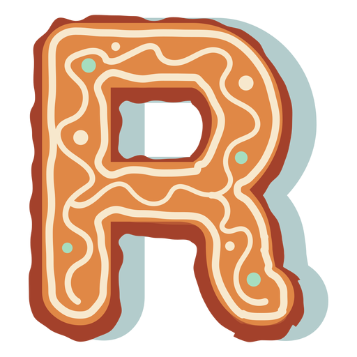 Gingerbread cookie letter r Transparent PNG