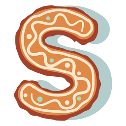 Gingerbread cookie letter s