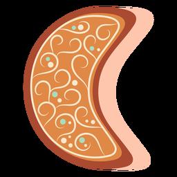 Gingerbread cookie moon