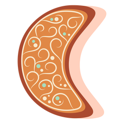 Luna de galletas de jengibre