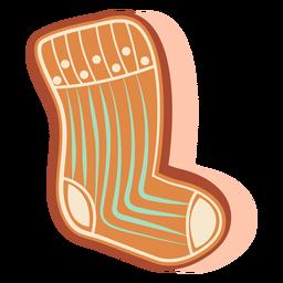 Calcetín de galleta de jengibre