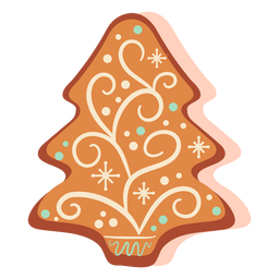 Gingerbread cookie xmas tree