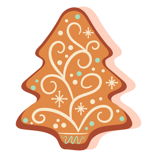 Gingerbread cookie xmas tree Transparent PNG