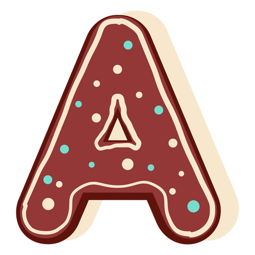 Gingerbread letter a