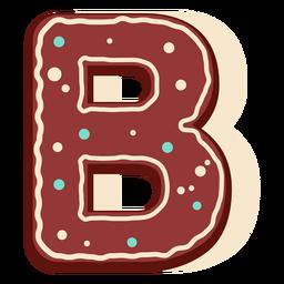 Gingerbread letter b