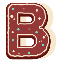Pan de jengibre letra b