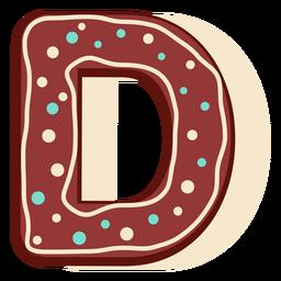Pan de jengibre letra d