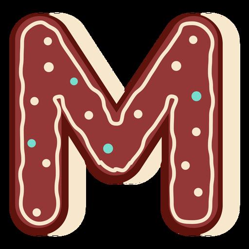 Gingerbread letter m