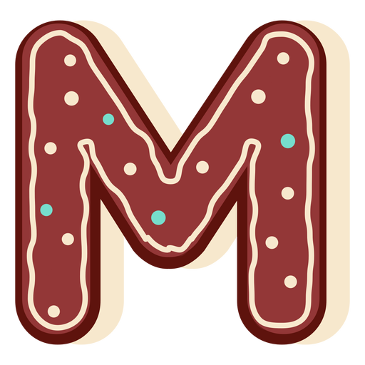 Pan de jengibre letra m